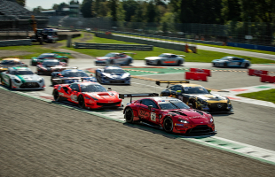 Salih/Yoluc score GT Open podium at Monza